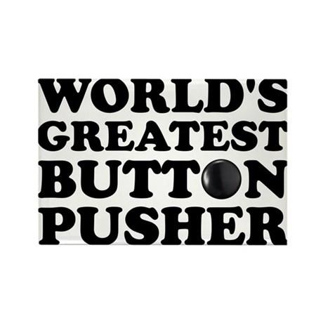WTD: World's Greatest Button Rectangle Magnet (10
