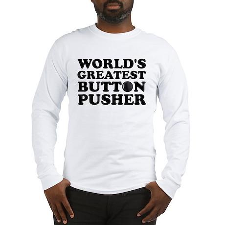WTD: World's Greatest Button Long Sleeve T-Shirt