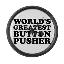 WTD: World's Greatest Button Large Wall Clock