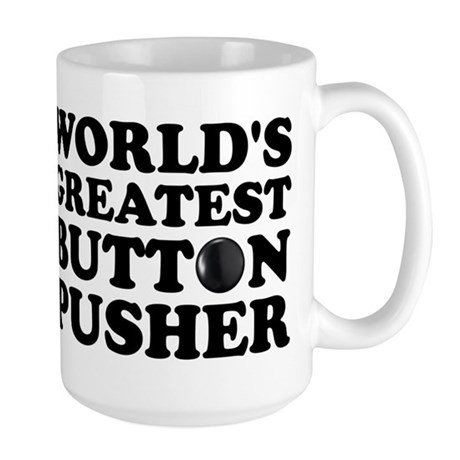 WTD: World's Greatest Button Large Mug