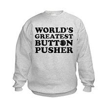 WTD: World's Greatest Button Sweatshirt