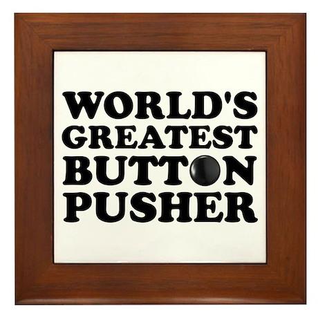WTD: World's Greatest Button Framed Tile