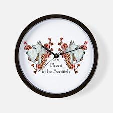Proud Wheaten Scottie Wall Clock