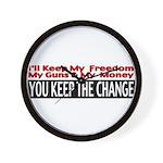 Keep The Change Wall Clock