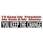 Keep The Change Bumper Sticker (50 pk)