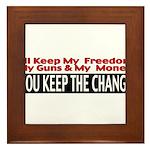 Keep The Change Framed Tile