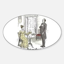 Pride & Prejudice Ch 19 Oval Decal