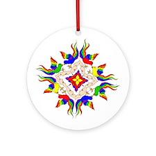 Wheel of Birds Ornament (Round)
