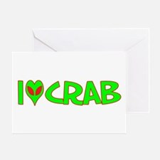 I Love-Alien Crab Greeting Card