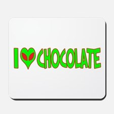 I Love-Alien Chocolate Mousepad