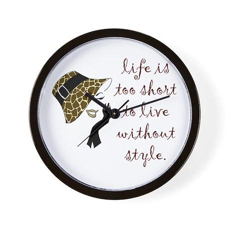Cute Animal Print Wall Clock