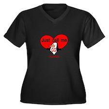 GG 2 Women's Plus Size V-Neck Dark T-Shirt