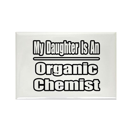 """Daughter..Organic Chemist"" Rectangle Magnet"