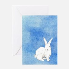 Rabbit Blue Greeting Card