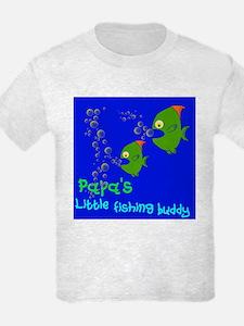 Papa's Little Fishing Buddy Kids T-Shirt