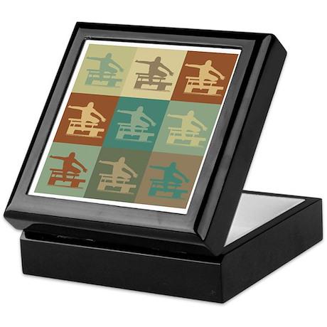 Hurdling Pop Art Keepsake Box
