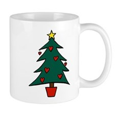 Christmas Tree Hearts Mug