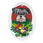 Schnauzer Dog Christmas Oval Ornament