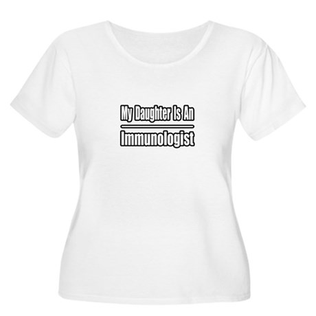 """My Daughter..Immunologist"" Women's Plus Size Scoo"