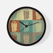 Human Resources Pop Art Wall Clock