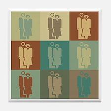 Human Resources Pop Art Tile Coaster