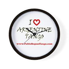 I love Argentine Tango Wall Clock