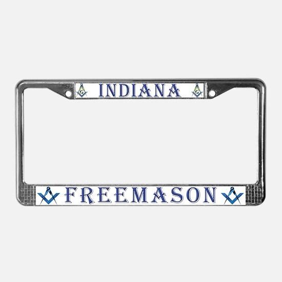 Indiana Masons License Plate Frame