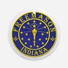 Indiana Masons Ornament (Round)