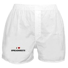 I Love SPREADSHEETS Boxer Shorts