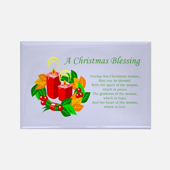 Blessing Candle Advent Wreath Rectangle Magnet