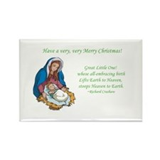 Mary Jesus Birth Manger Heaven Christmas Magnet