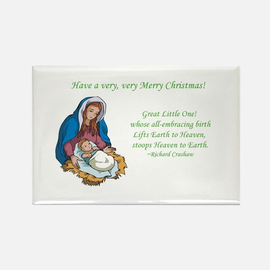 Mary Jesus Birth Manger Heaven Christmas Magnet