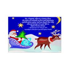 Santa Rudolf Reindeer Christmas Rectangle Magnet