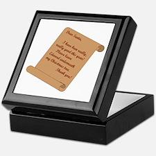 Dear Santa...Edward Keepsake Box
