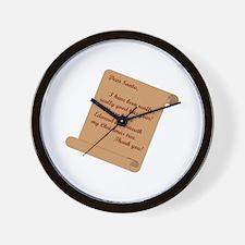 Dear Santa...Edward Wall Clock