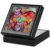In loving memory of mom Square Keepsake Boxes