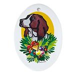 Basset Hound Christmas Ornaments Oval Ornament