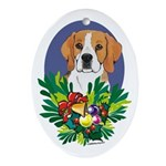 Beagle Christmas Ornaments Oval Ornament