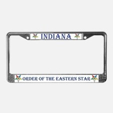 Indiana OES License Plate Frame