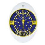 Indiana OES Oval Ornament
