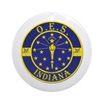 Indiana OES Ornament (Round)