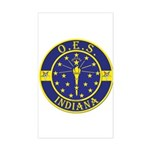 Indiana OES Rectangle Sticker