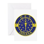Indiana OES Greeting Cards (Pk of 10)