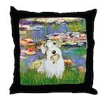 Lilies (#2)/Sealyham L2 Throw Pillow