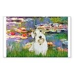 Lilies (#2)/Sealyham L2 Sticker (Rectangle 50 pk)