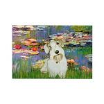 Lilies (#2)/Sealyham L2 Rectangle Magnet (10 pack)