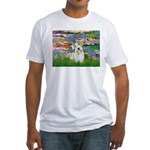 Lilies (#2)/Sealyham L2 Fitted T-Shirt