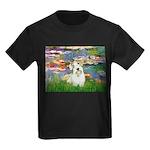 Lilies (#2)/Sealyham L2 Kids Dark T-Shirt