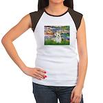 Lilies (#2)/Sealyham L2 Women's Cap Sleeve T-Shirt