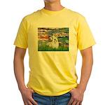 Lilies (#2)/Sealyham L2 Yellow T-Shirt